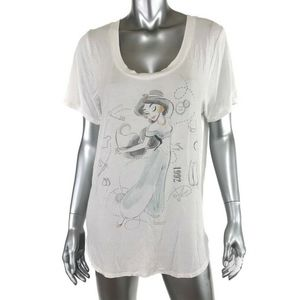 Disney Princess Womens Graphic Tee T Shirt Sz Lg